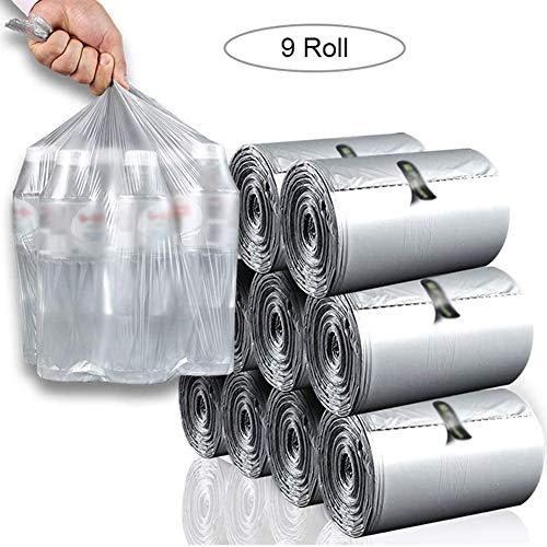 NanXi pour Les ordures, Packets Sacs Poubelle Sacs 28 litres / 6 gallons d'ordures, ordures Non parfumé Sacs (9 Rolls, 990 comptes au Total)