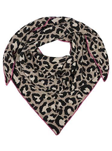 Zwillingsherz Dreieckstuch mit Kaschmir- Hochwertiger Schal im dezentem Leodesign für Damen Jungen und Mädchen - Hals-Tuch und Damenschal - Strick-Waren für Sommer und Winter pin