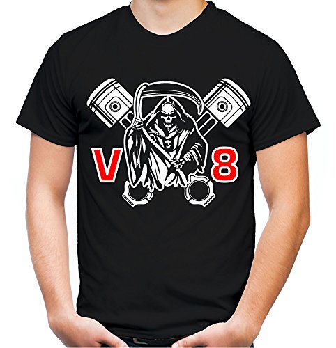 V8 Männer und Herren T-Shirt | Spruch Auto Geschenk | M3 (XXXL, Schwarz)
