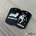 Mister Petlife I Love My Alaskan Klee Kai Engraved Keychain/GI Tag akk Black 4