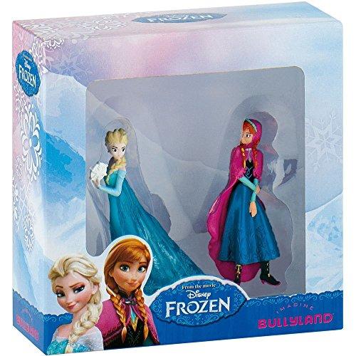Bullyland 13063–Figura de Juguete Set, Walt Disney Frozen Mini, Anna y Elsa , color/modelo surtido