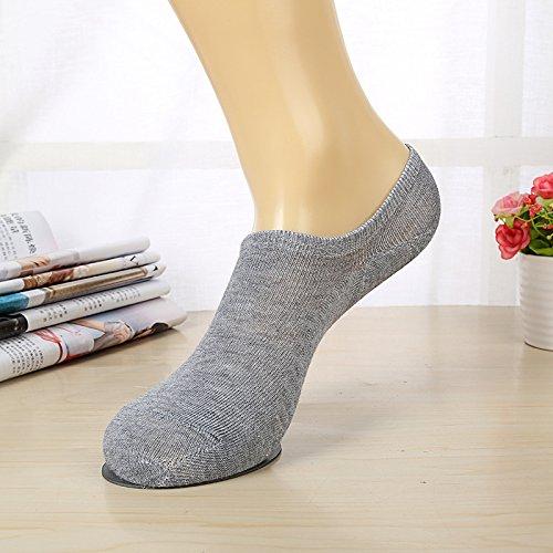 WZHHXXG Herensokken sokken sokken Heren zomer ademend dunne bootsokken bamboe sokken eenheidsmaat grijs