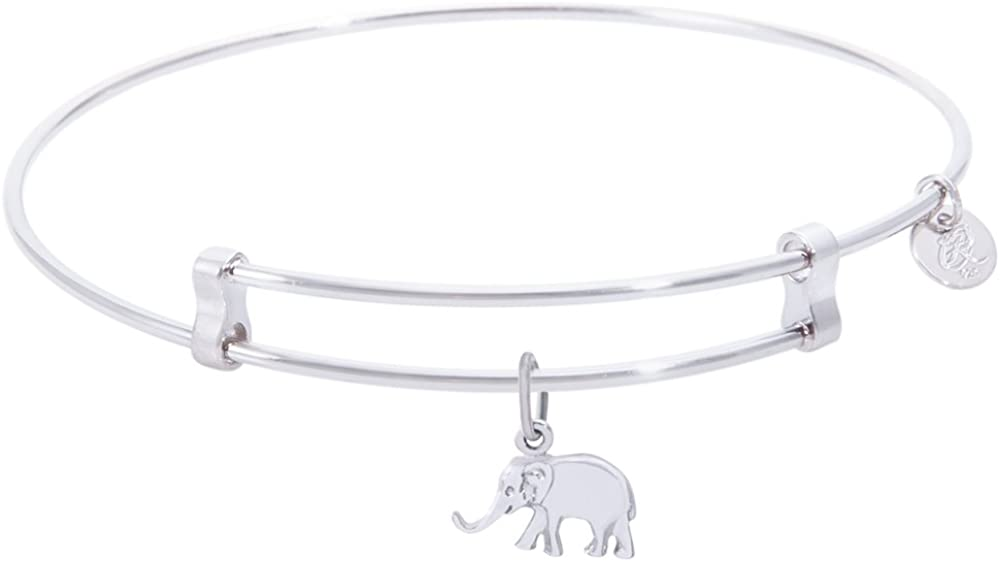 Rembrandt Elephant Charm Expandable depot Bangle Courier shipping free 'Confident' Wire Ste