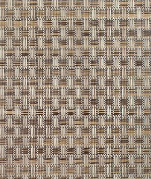 Phifertex PVC Wicker Weaves - Veranda Nutmeg Fabric - by the Yard