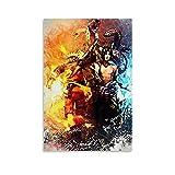 HUAIREN Sasuke VS Naruto Shippuden Schlange Kunst-Poster