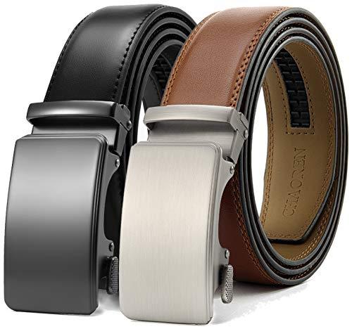 Chaoren Leather Ratchet Belt 2 Pack
