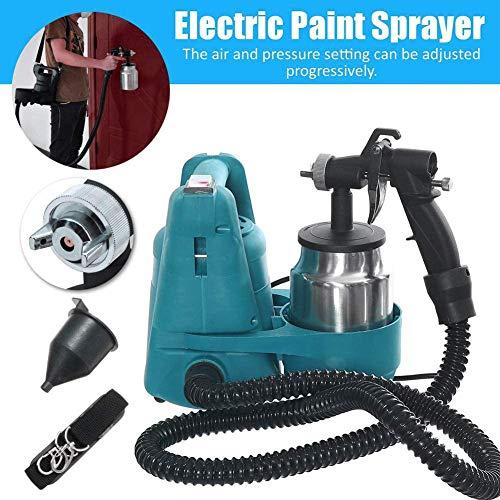WSMLA Feed Sprühdüse zum Sprühen auf Ölbasis oder Latexfarben mit Filtern und Reinigungssets 800w Elektro-Spray 800ml Sprayer malen Einstellbare Hochdruck Spritztank Kit