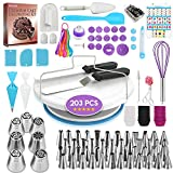 ✅ COMPLETE CAKE DECORATING SUPPLIES WITH CAKE SERVERT SET: Including everything you need to start decorating Cakes like a PRO : ✔ 1 cake turntable ✔ 1 cake fondant smoother ✔ 1 decorating pen ✔ 1 straight spatula ✔ 1 offset spatula ✔ 1 cake leveler ✔...