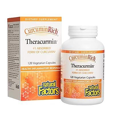 Natural Factors CurcuminRich Theracurmin (30mg, 120 Vegetarian Capsules)