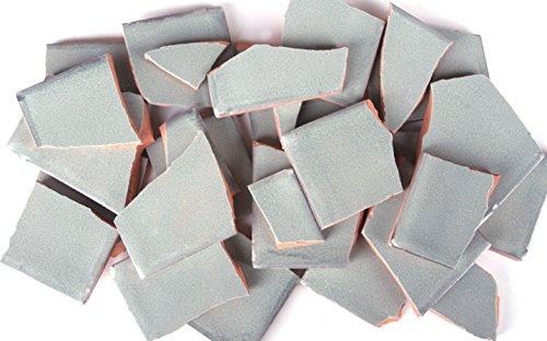 900g Bruchmosaik, Mosaikfliesen aus handgefertigten Fliesen - grau