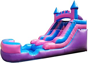 Sponsored Ad - Pogo Bounce House Inflatable Water Slide - 13.5' Foot Tall x 21' Foot Long x 9' Foot Wide - Crossover Pink ...
