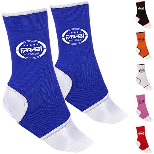 FARABI Soporte para el Tobillo apoyos Protector del pie del Vendaje Protector del tendón de Aquiles Brace esguince (Azul, S/M)