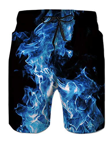NEWISTAR Pantalones cortos de playa para hombre, longitud media, impresión 3D, tallas S-XXXL