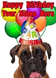 Boxer perro Tarjeta de parte codebox cumpleaños A5Tarjeta de felicitación personalizadas