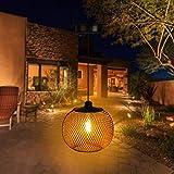 Innoo Tech Farol solar exterior e interior, IP65 resistente al agua LED Jardín, lámpara solar de metal para jardín, terraza, patios traseros y caminos [Clase energética A++]