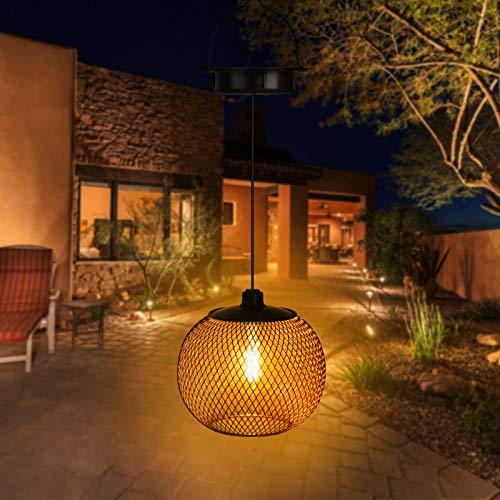 Innoo Tech Solar Laterne Aussen Innen, IP65 Wasserdicht LED Garten Hängende Laterne, Metall Solarlampe Garten Solarleuchten für Garten,Terrasse,Hinterhöfe und Wege [Energieklasse A++]