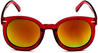 Gespout - Gespout Gafas de Sol Mujer Mujeres Niña Polarizadas Glasses Marco de Mafas Mango de Plástico para Regalo Cumpleaños Viajes Playa Brillante Carisma Accesorios de Fotos 1pcs Rojo