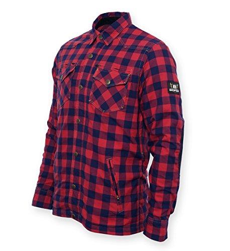 Bores Lumberjack Damen Jacken-Hemd,  Reißfest, Wasserabweisend, Rot-Schwarz Kariert, Größe L