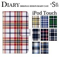 チェック柄 (手帳型)【04.チェック柄 Type.D】/ iPod touch 第6世代 手帳型ケース カバー