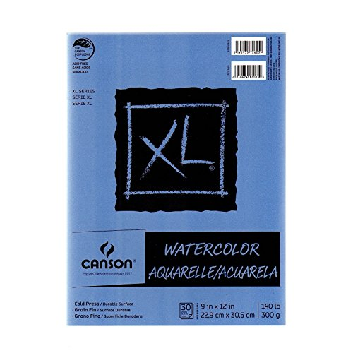 Canson XL Watercolor Pads 9 in. x 12 in. pad of 30 [PACK OF 3 ]