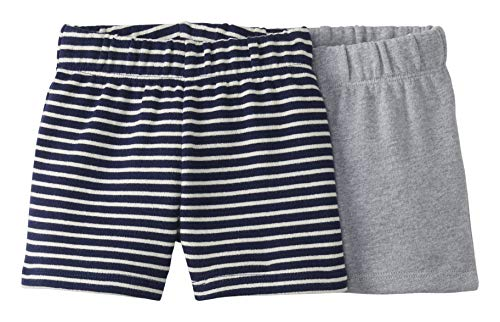 Moon and Back by Hanna Andersson 2 Pk Infant-and-Toddler-Shorts, grau meliert, US 2T (EU 92-98)