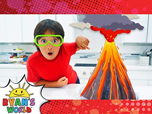 Ryan Makes a Volcano Erupt with Science!