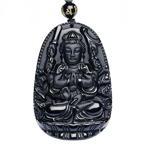 Collar con colgante de Buda Bodhisattva; amuleto, talismán.  Hecho co