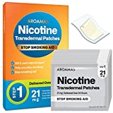 Aroamas Nicotine Patches to Quit Smoking - Step 1, Nicotine Transdermal Patches Step 1 [21 mg, 21 Patches]
