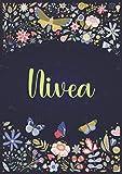 Nivea: Taccuino A5 | Nome personalizzato Nivea | Regalo di compleanno per moglie, mamma, sorella, figlia ... | Design: giardino | 120 pagine a righe, piccolo formato A5 (14.8 x 21 cm)