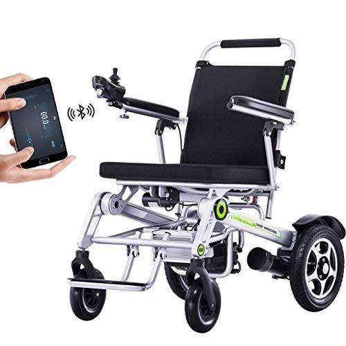 Wheelchair Silla De Ruedas Eléctrica De Aluminio Remota Silla De Ruedas Eléctrica Plegable GPS Bluetooth Completamente Automático con Soporte De Aplicación De Teléfono