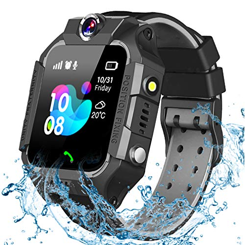GBD Smart Watch for Kids-IP67 Waterproof Smartwatch Phone with Call Games SOS Alarm Clock 12/24 Hr,Kids Digital Wrist Watch Stopwatch for Children Boys Girls Age 3-12 Learning Toys (Black)