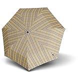 Knirps Piccolo Taschenschirm/Regenschirm, braun check, Länge ca. 19,5 cm, Durchmesser ca. 6 cm