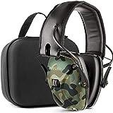 Awesafe Casco Tiro Electronico Protector Auditivo Auriculares de Caza Protectores para Oídos Especialmente Diseñados para Cazadores y Tiradores +Estuche Rígido Funda de almacenamiento (Camuflaje)