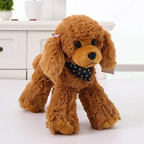Metermall Hot 30cm Verisimilitude Poedel Teddy Dog Plush Soft Knuffel Verjaardagscadeau Geel 30 cm