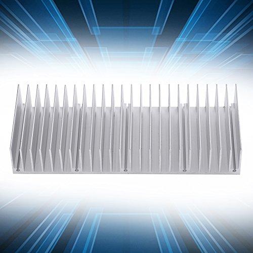 Aluminium koellichaam, 1pc Aluminium koellichaam Radiatoren koellichaam dicht 24 tanden 150 mm