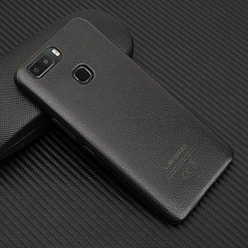 Ycloud Tasche für Leagoo S8 Pro Hülle, Gute Qualität Strukturierter Handykasten Hartschalen-Rückabdeckung Handy case Backcover Kunststoff-Hard Shell Handyhülle Hülle - Grau schwarz