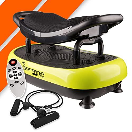 Bonplus BP | Plataforma Vibratoria con asiento| Fitness | Para adelgazar | Tonificador de músculo | Potencia por 3000 el entrenamiento|
