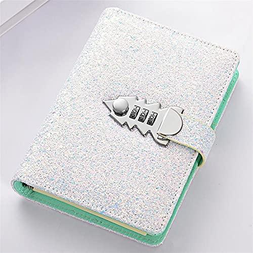 Libreta A6 Planner Binder Spiral Cuadernos de espiral y revistas Contraseña Agenda Diario con Bloqueo de notas para suministros de oficina de oficina Papelería (Color : C, Size : A6)