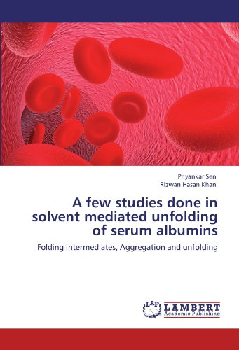 A few studies done in solvent mediated unfolding of serum albumins: Folding intermediates, Aggregation and unfolding