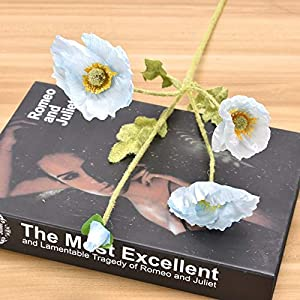 Mini Poppies Artificial Flower Simulation Silk Fake Flower Home Party Wedding Decoration Photography Decorative Fake Flowers