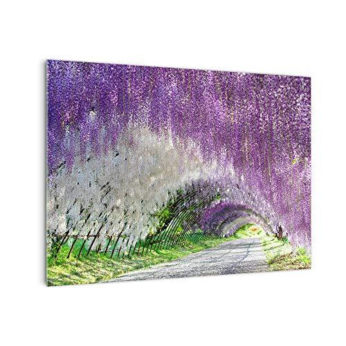 DekoGlas Küchenrückwand 'Abstrakt Blumenweg' in div. Größen, Glas-Rückwand, Wandpaneele, Spritzschutz & Fliesenspiegel
