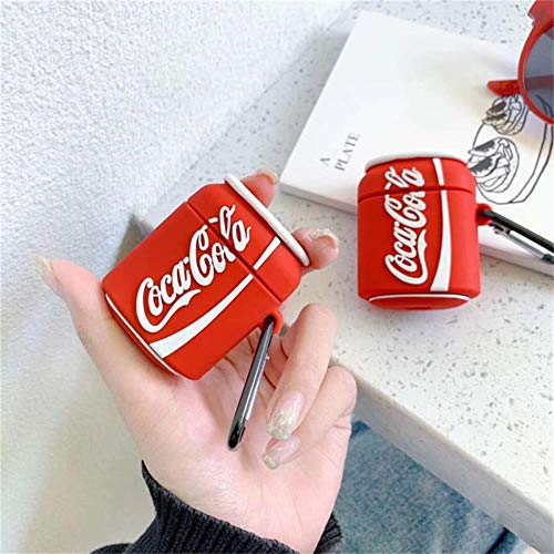 Für Airpods Fall 3D Süße Kekse Cola Burger Kopfhörer Hüllen Für Apple Für Airpods 2 Lustige Schutzhülle Mit Fingerringgurt, Ejt1-11