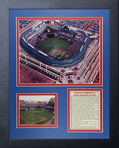 "Legends Never Die ""Texas Rangers Ballpark at Arlington Framed Photo Collage, 11 x 14-Inch"