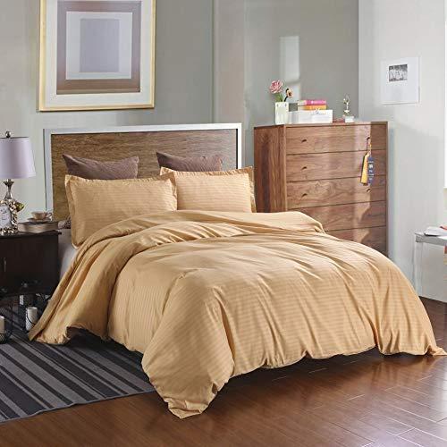 BH-JJSMGS Feste Satinbettwäsche, Bettbezug aus Polyester-Mikrofaser, Gold 200 * 200 (3er-Set)