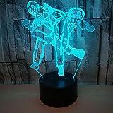 3D Night Light Boxing Match Mood Light Colorido Cambio De Color Led Luz Visual Decoración Del Hogar Atmósfera Luz Usb Mesita De Noche Lámpara YINGERCAR