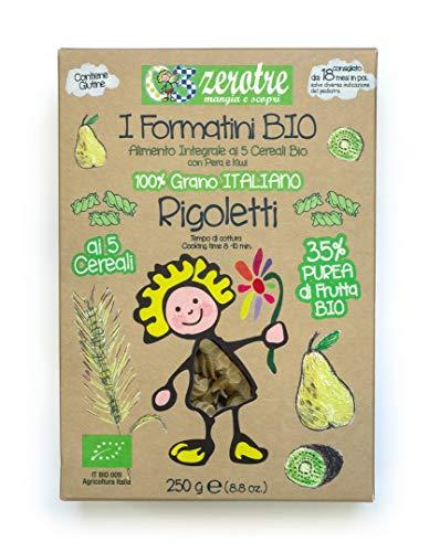 03 Zerotre mangia e scopri Rigoletti di Semola Bio Pera e Kiwi - 250 g