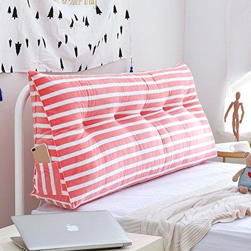 WENZHE Upholstered Headboard Cabecera Cabecero Tapizado Cabeceros De Cama Cabezal Triangular Arte De Tela Raya Estuche Blando Princesa Viento Pretina, 5 Colores (Color : 2#, Tamaño : 180×20×50cm)