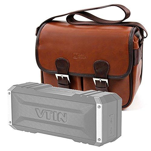 DURAGADGET Bolsa Profesional marrón con Compartimentos para Altavoz Portátil Vtin Royaler/Vtin Punker