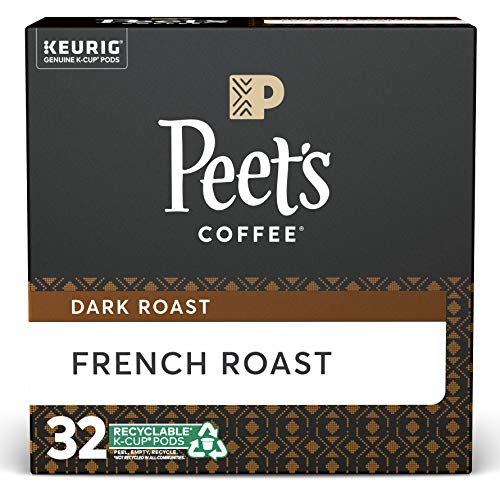 Peet's Coffee French Roast, Dark Roast, 32 Count K-Cup Pods Now $8.22 (Was $20.95)