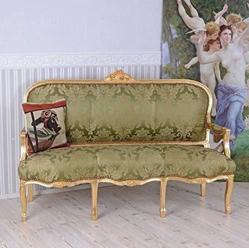 Gigantisches Rokoko Sofa, Diwan, Kanapee, Ottomane, Liege mit königlichem Ambiente im Rokoko-Stil in Grün - Palazzo Exclusive